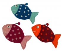 Wallet fish in 3 colors