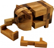 Wood game, Skill game, Puzzle game, 3 D wood puzzle - Puzzle pig
