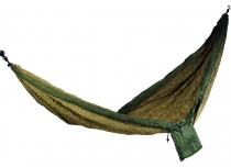 Travel hammocks made of parachute fabric - green