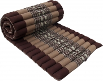 Thai rollable mat with kapok filling - brown