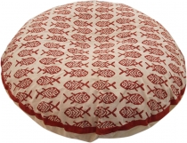 Round cushion cover block print, cushion cover ethno, decorative ..