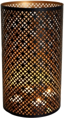 round metal lantern lamp, suitable for tea light candles or as a ..