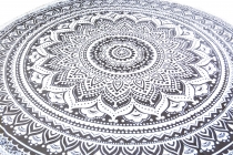 Rundes indisches Mandala Tuch, Boho Tagesdecke, Picknickdecke, St..