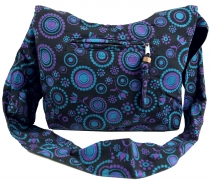 Sadhu Bag, Shopper, small shoulder bag - black/lilac