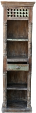 Narrow shelf in vintage look with one drawer DC002