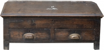 Writing desk, solid wood chest with 2 drawers - model 8