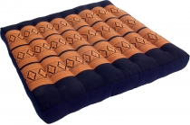Seat cushion, floor cushion, floor matThai, kapok, 50*50 cm - bla..