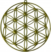 Sun catcher, Suncatcher - flower of life gold