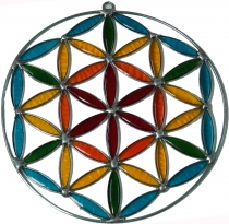 Sun catcher, Suncatcher - flower of life colorful