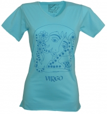 Star sign T-Shirt `Jungfrau` - turquoise
