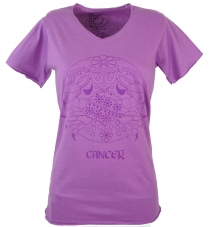 Star sign T-Shirt `Cancer` - purple