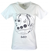 Star sign T-Shirt `Lion` - white