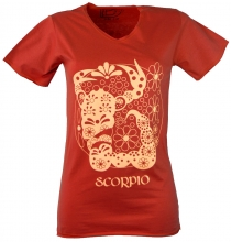 Star sign T-Shirt `Skorpion` - orange