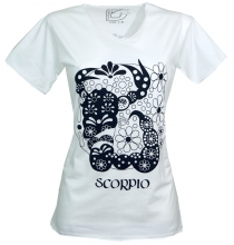 Star sign T-Shirt `Skorpion` - white