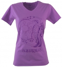Star sign T-Shirt `Water man` - purple