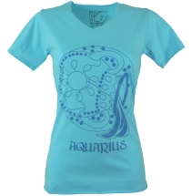 Star sign T-Shirt `Water man` - turquoise