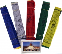 5 pieces Sparpack prayer flags (Tibet) with 25 pennants in differ..