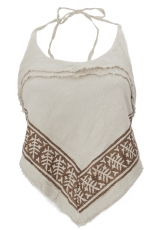 Goa Top, Psytrance, printed Bandeau Top - linen