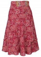 Short, changeable wrap skirt, boho step skirt, magic dress - red