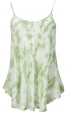 airy bati top, summer top, boho top - green