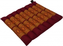 Thai chair cushion, floor cushion, kapok seat pad, 35*40 cm - red..