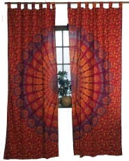 curtain, curtain (1 pair of curtains, curtains) with loops, manda..