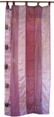 Curtain (1 pc.) curtain made of patchwork fabric, unique - pink c..