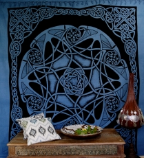 Wall hanging, wall cloth, mandala, bedspread Celtic - design 23