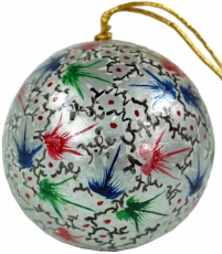 Upcyceling Christmas ball made of paper mache, handpainted Christ..