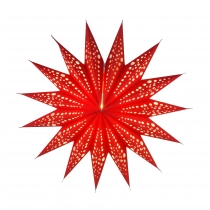 Foldable Advent light paper star, poinsettia 40 cm - Aristea red