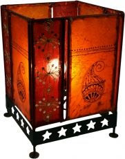 Henna Lamp, Leather Lamp, Saree Table Lamp/Table Lamp - Model Che..