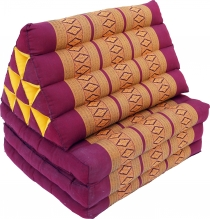 Thai pillow, triangular pillow, kapok, day bed with 3 covers - da..