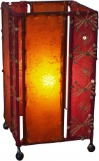 Leather, Saree Table Lamp/Table Lamp - Model Mandalay