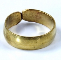 Brass toe ring, Goaschmuck - gold