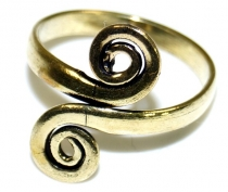 Brass toe rings, Goaschmuck - gold